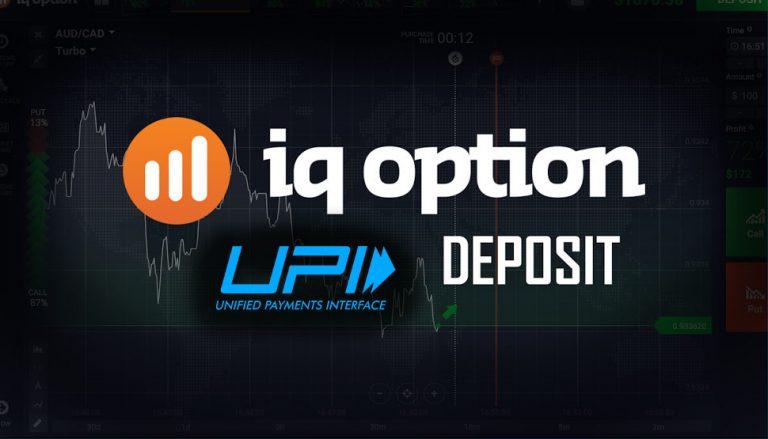 IQ Option Deposit India – Using UPI Method