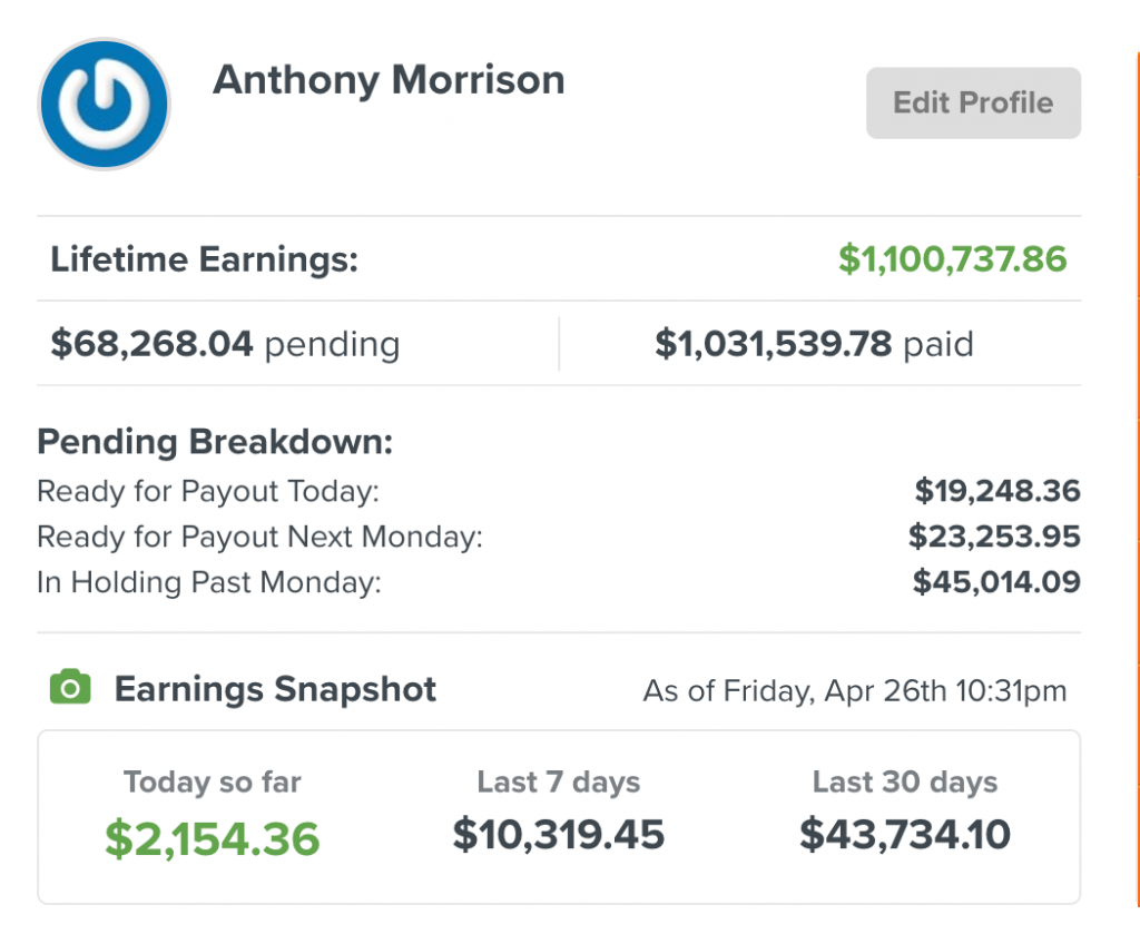 pwa earnings